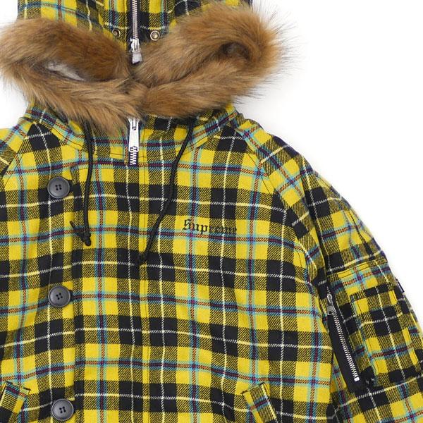 シュプリーム Supreme 18FW Wool N-2B Jacket ジャケット YELLOW PLAID イエロー プレイド メンズ Sサイズ 【新古品/未使用】 2018FW 130003129038 (OUTER)