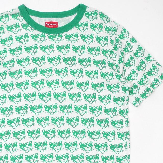 シュプリーム Supreme 14SS Pink Panther Top ピンクパンサー トップ Tシャツ GREEN グリーン メンズ Sサイズ 【中古】 2014SS 104002963030 (半袖Tシャツ)