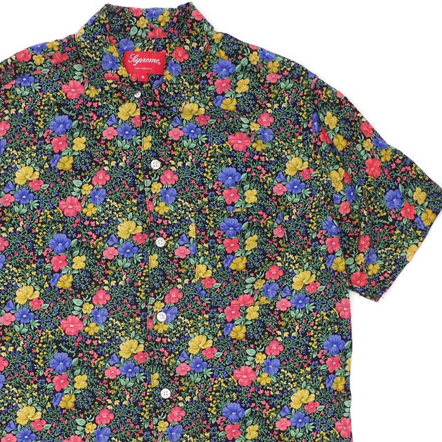 シュプリーム Supreme 100%安心保証 当店取扱い商品は全て本物 正規商品 19SS Mini 送料無料お手入れ要らず Floral Rayon S Shirt 115001596031 ブラック 半袖シャツ メンズ 中古 2019SS 贈り物 Sサイズ レーヨン TOPS BLACK
