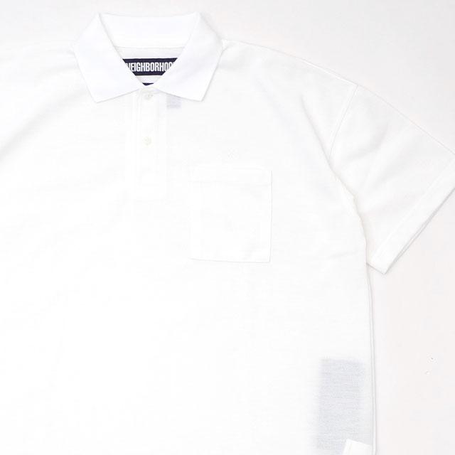新古品/未使用 ネイバーフッド NEIGHBORHOOD 19SS LOGIC/E-POLO.SS ポロシャツ WHITE ホワイト メンズ Mサイズ 2019SS 410420468040 (TOPS)