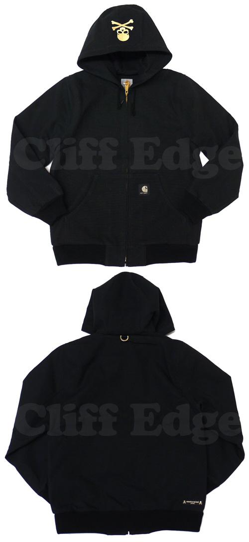 Mastermind JAPAN (마스터 마인드 재팬) x Carhartt (칼 하트) ACTIVE 재킷 BLACK 230-000426-031 +