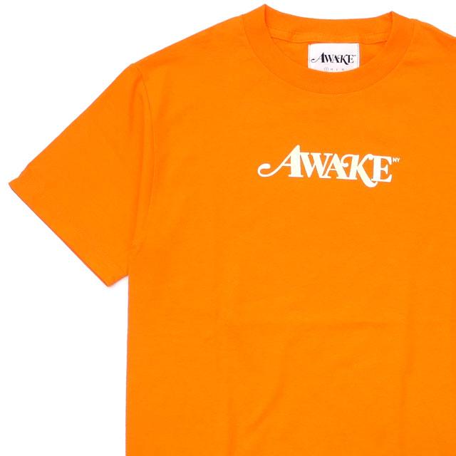 [次回のお買い物で使える500円OFFクーポン配布中!! 4/30(火)まで!!] Awake NY アウェイク ニューヨーク METALLIC FOIL LOGO TEE Tシャツ ORANGE 200007926038 【新品】