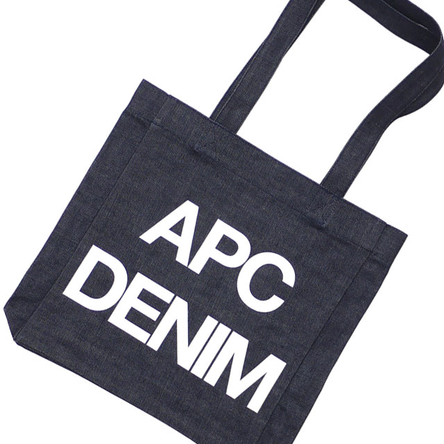 A.P.C. アーペーセー TOTE BAG APC DENIM トートバッグ WHITE 277002527010 【新品】