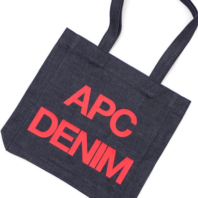A.P.C. アーペーセー TOTE BAG APC DENIM トートバッグ RED 277002527013 【新品】
