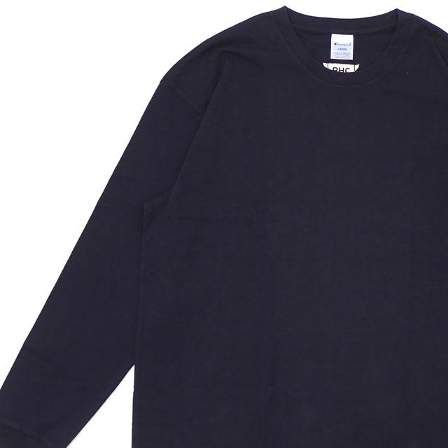 ロンハーマン RHC Ron Herman x Champion チャンピオン L S TEE 長袖Tシャツ NAVY 202000969057 【新品】
