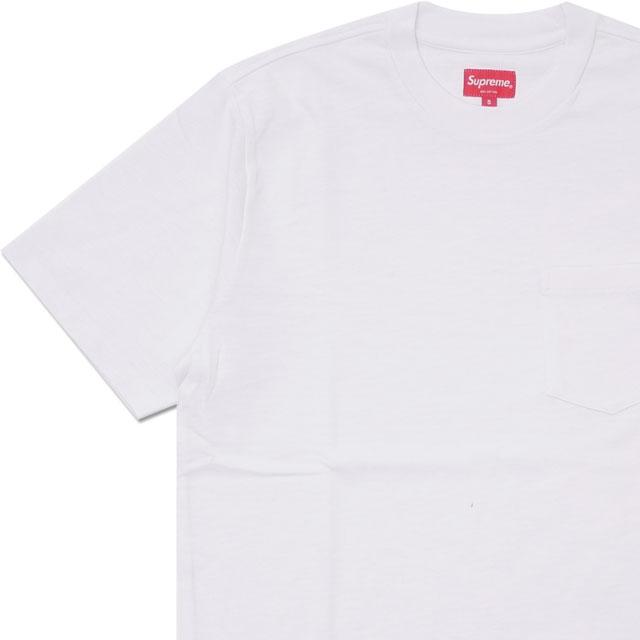 2018新発 シュプリーム WHITE SUPREME【新品】 S S Pocket Tee Tシャツ WHITE 203000296030 Tシャツ【新品】, 日向市:0ed8899f --- paulogalvao.com