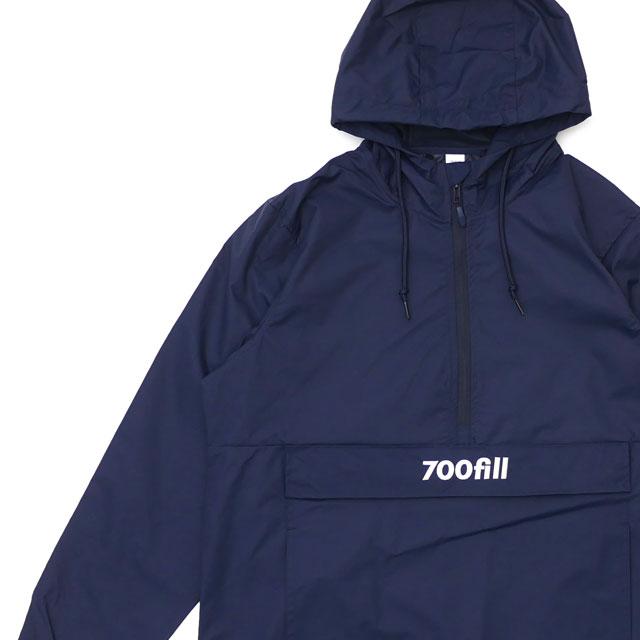 700fill セブンハンドレッドフィル Payment Logo Pullover プルオーバージャケット NAVY 228000159047 【新品】