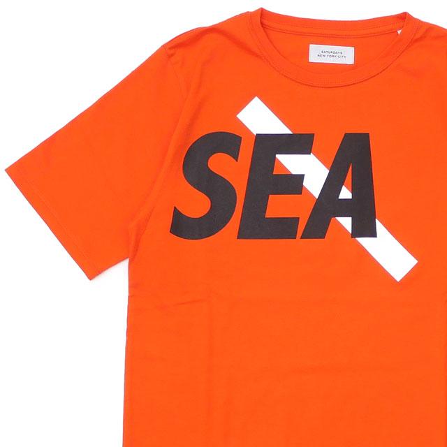 SATURDAYS SURF NYC サタデーズ・サーフ・ニューヨーク x WIND AND SEA ウィンダンシー TShirt Tシャツ ORANGE 200007964028 【新品】