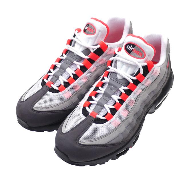 nike air max 95 og trainer white / solar red / granite