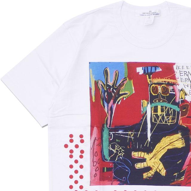 コムデギャルソン シャツ COMME des GARCONS SHIRT BASQUIAT TEE Tシャツ WHITExRED 200007982050 【新品】