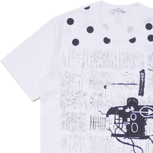 コムデギャルソン シャツ COMME des GARCONS SHIRT BASQUIAT TEE Tシャツ WHITExBLACK 200007984040 【新品】