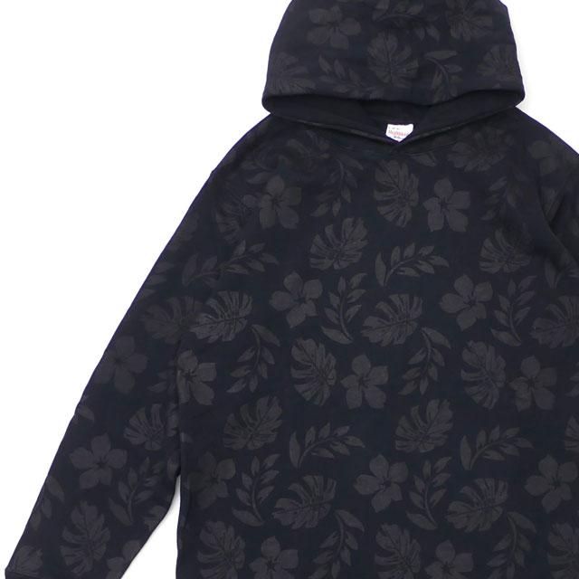 ロンハーマン Ron Herman x Healthknit ヘルスニット Flower Print Pull Parka パーカー BLACK 211000587051 【新品】