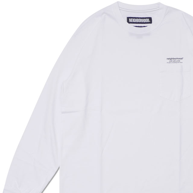 ネイバーフッド NEIGHBORHOOD CLASSICP CCREW.LS 長袖Tシャツ 182ATNHCSM01 WHITE 209000522060 【新品】