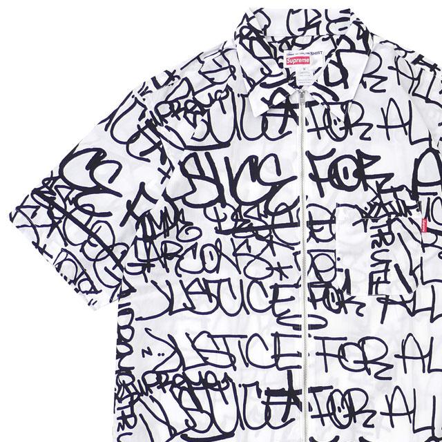 シュプリーム SUPREME x コムデギャルソン シャツ COMME des GARCONS SHIRT Graphic S S Shirt 半袖シャツ WHITE 215001305040 【新品】