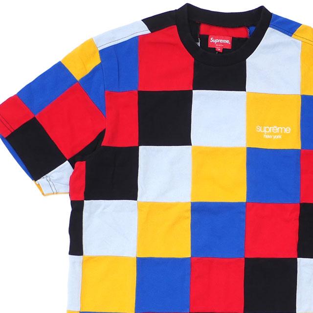 シュプリーム SUPREME Patchwork Pique Tee Tシャツ RED 418000394043 【新品】