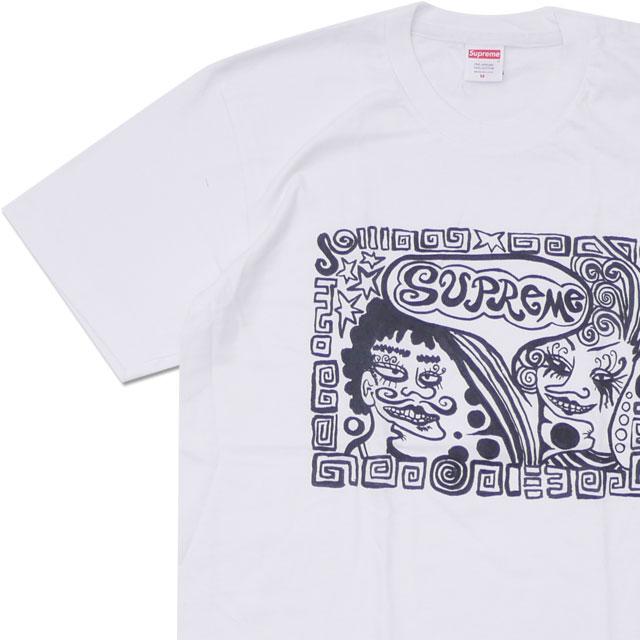 [次回のお買い物で使える500円OFFクーポン配布中!! 4/30(火)まで!!] シュプリーム SUPREME Faces Tee フェイス Tシャツ WHITE ホワイト 白 メンズ 【新品】 200008002030