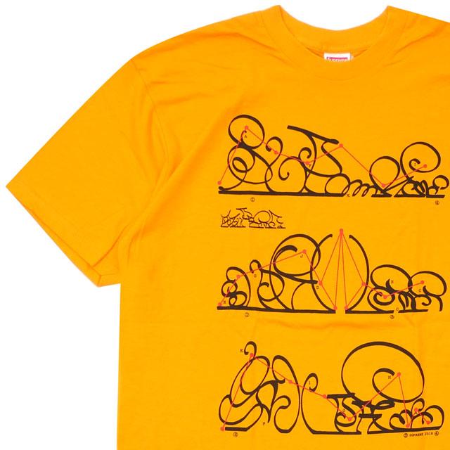 [次回のお買い物で使える500円OFFクーポン配布中!! 4/30(火)まで!!] シュプリーム SUPREME System Tee Tシャツ BRIGHT ORANGE 200008004258 【新品】