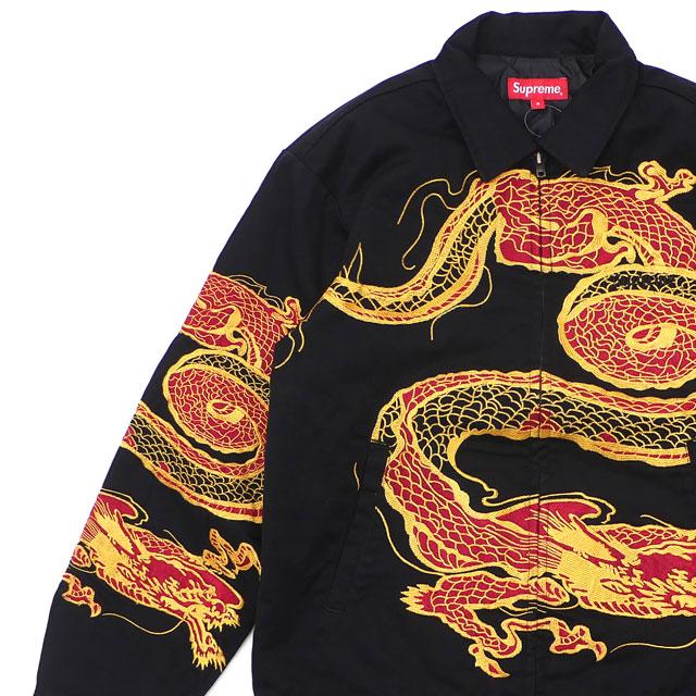 [次回のお買い物で使える500円OFFクーポン配布中!! 4/30(火)まで!!] シュプリーム SUPREME Dragon Work Jacket ジャケット BLACK 225000387041 【新品】
