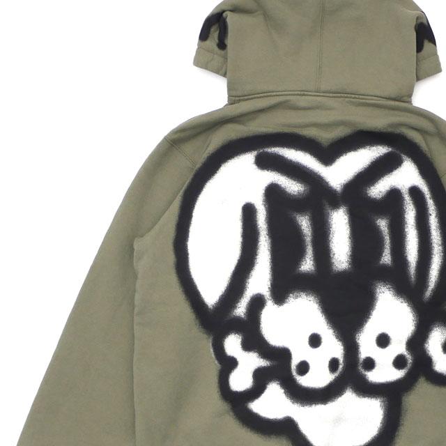 シュプリーム SUPREME 18FW Bone Zip Up Sweatshirt スウェットパーカー LIGHT OLIVE オリーブ メンズ 【新品】 2018FW 418000396045