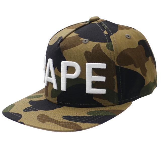 b0a97d1bf06b6 エイプ A BATHING APE 1ST CAMO BAPE SNAP BACK CAP cap GREEN Midori Green men  1E80180011 250000455015