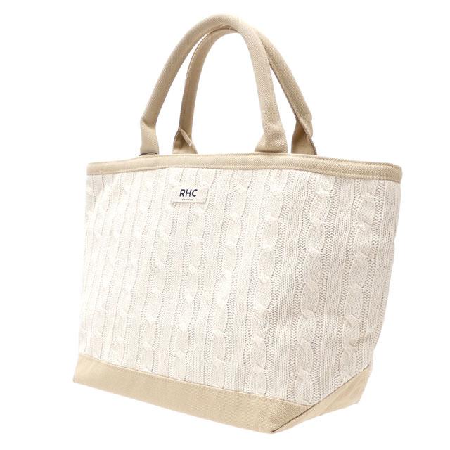 ロンハーマン RHC Ron Herman Cable Knit Tote bag 名古屋店OPEN記念 トートバッグ WHITE ホワイト 白 メンズ レディース 【新品】 277002550010