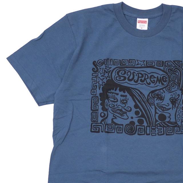 シュプリーム SUPREME 18FW Faces Tee Tシャツ SLATE スレート メンズ 【新品】 2018FW 418000423046