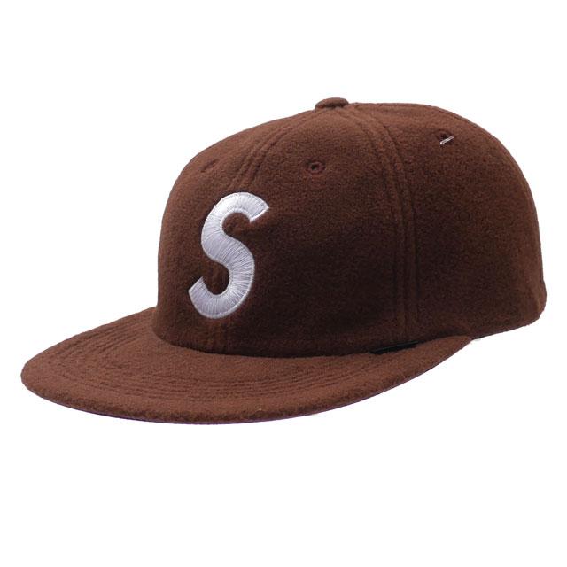 シュプリーム SUPREME 18FW Polartec S Logo 6-Panel Hat Sロゴ キャップ BROWN ブラウン 茶 メンズ 【新品】 2018FW 265001107116