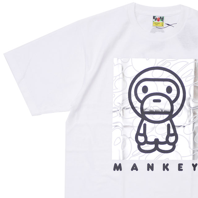 4631e4dc エイプ A BATHING APE BABY MILO BY MANKEY TEE T-shirt WHITE white white men  200008022240