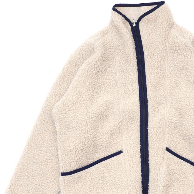 ダブルティー WTW BOA STAND ZIP JKT ボア ジャケット BEIGE ベージュ メンズ 【新品】 228000161046