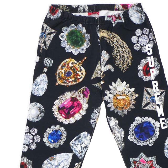 シュプリーム SUPREME 18FW Jewels Sweatpant スウェットパンツ BLACK ブラック 黒 メンズ 【新品】 2018FW 418000422031