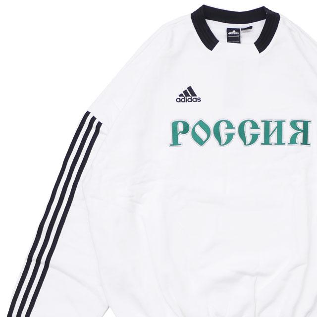 ゴーシャ・ラブチンスキー GOSHA RUBCHINSKIY x アディダス adidas SWEAT TOP スウェット WHITE ホワイト 白 メンズ 【新品】 420000193040