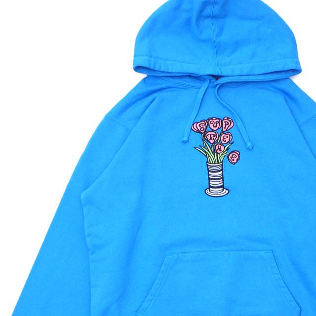 シュプリーム SUPREME 18FW Flowers Hooded Sweatshirt スウェットパーカー BRIGHT ROYAL ロイヤル メンズ 【新品】 2018FW 418000420044