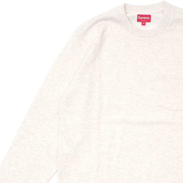シュプリーム SUPREME 18FW L/S Pocket Tee 長袖 Tシャツ ロンティー HEATHER NATURAL ヘザー ナチュラル メンズ 【新品】 2018FW 202001020036