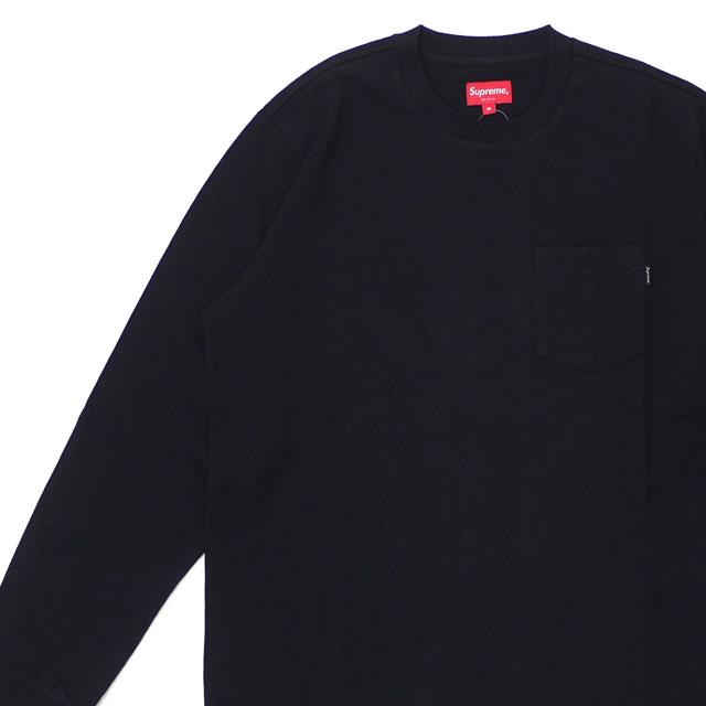 シュプリーム SUPREME 18FW L/S Pocket Tee 長袖 Tシャツ ロンティー BLACK ブラック 黒 メンズ 【新品】 2018FW 202001020031
