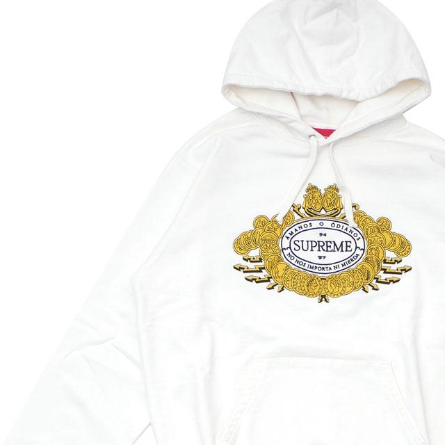 シュプリーム SUPREME 18FW Love or Hate Hooded Sweatshirt スウェット パーカー WHITE ホワイト 白 メンズ 【新品】 2018FW 418000459040
