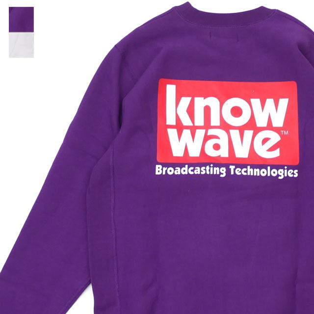 [次回のお買い物で使える500円OFFクーポン配布中!! 4/30(火)まで!!] ノーウェーブ Know Wave Broadcast Crewneck スウェット メンズ 【新品】 418000490049