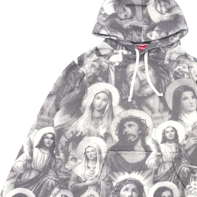 [次回のお買い物で使える500円OFFクーポン配布中!! 4/30(火)まで!!] シュプリーム SUPREME Jesus and Mary Hooded Sweatshirt スウェット パーカー DARK GRAY グレー 灰色 メンズ 【新品】 211000621132