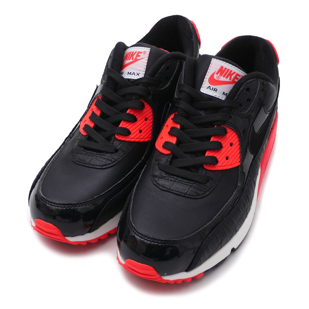 NIKE : AIR MAX 90 ANNIVERSARY BLACKBLACK INFRARED WHITE