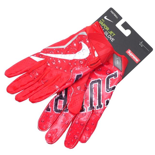 シュプリーム SUPREME x ナイキ NIKE Vapor Jet 4.0 Football Gloves グローブ RED レッド 赤 メンズ 【新品】 290004877033