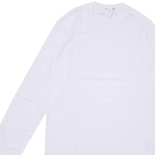 コムデギャルソン シャツ COMME des GARCONS SHIRT Plain Crew Neck LS Tee 長袖Tシャツ WHITE ホワイト 白 メンズ 【新品】 202001042060