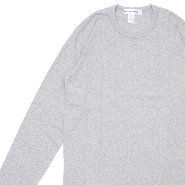 コムデギャルソン シャツ COMME des GARCONS SHIRT Plain Crew Neck LS Tee 長袖Tシャツ GRAY グレー 灰色 メンズ 【新品】 202001042052