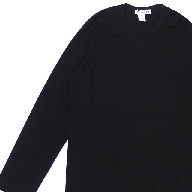 365f9482 コムデギャルソンシャツ COMME des GARCONS SHIRT Plain Crew Neck LS Tee long sleeves T- shirt BLACK black black men 202001042061