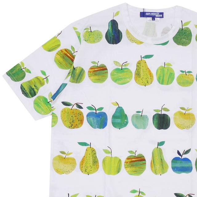 [次回のお買い物で使える500円OFFクーポン配布中!! 4/30(火)まで!!] コムデギャルソン ジュンヤワタナベ COMME des GARCONS JUNYA WATANABE MAN 19SS APPLE TEE Tシャツ WHITE ホワイト 白 メンズ 【新品】 200008072050