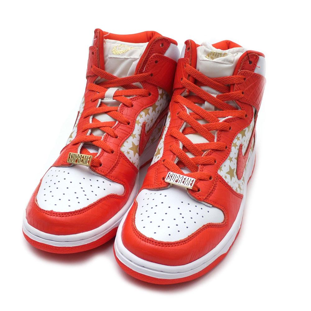 separation shoes 0f2c9 44e53 SUPREME x NIKE : DUNK HIGH PRO SB SUPREME WHITE / COLLEGE ...