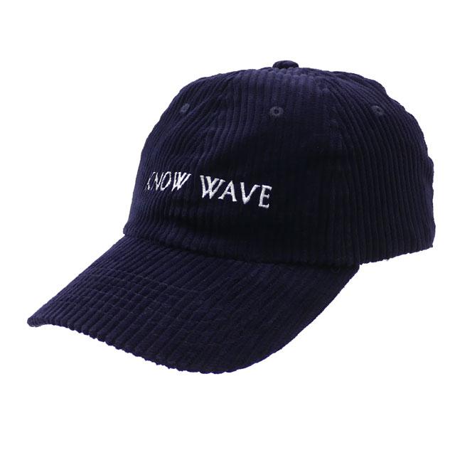 [次回のお買い物で使える500円OFFクーポン配布中!! 4/30(火)まで!!] ノーウェーブ Know Wave Corduroy Hat キャップ NAVY ネイビー 紺 メンズ レディース 【新品】 420000250017