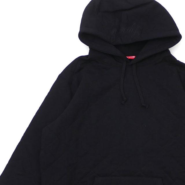 [次回のお買い物で使える500円OFFクーポン配布中!! 4/30(火)まで!!] シュプリーム SUPREME Quilted Hooded Sweatshirt パーカー BLACK ブラック 黒 メンズ 【新品】 418000635051