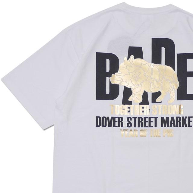 [次回のお買い物で使える500円OFFクーポン配布中!! 4/30(火)まで!!] エイプ A BATHING APE x ドーバーストリートマーケット DOVER STREET MARKET Year Of The Pig A Bathing Ape Tee WHITE 【新品】 200008078060