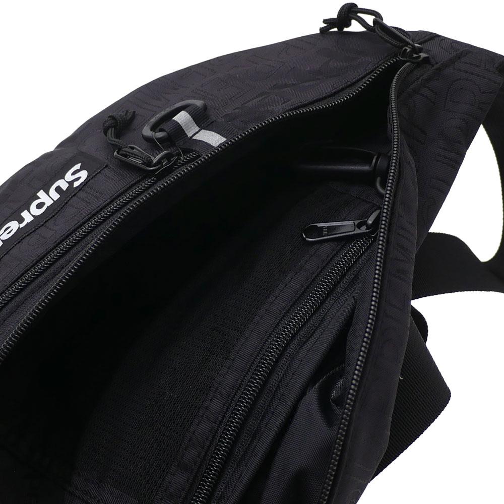 【14:00までのご注文で即日発送可能】 シュプリーム SUPREME 19SS Waist Bag ウエストバッグ BLACK ブラック 黒 メンズ レディース 【新品】 2019SS 277002583011