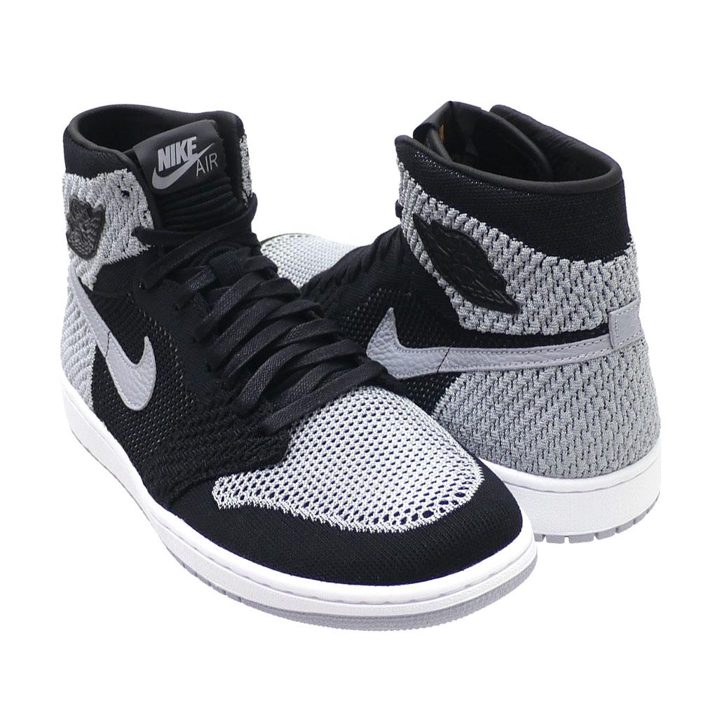 low priced d423a 0883e Nike NIKE AIR JORDAN 1 RETRO HIGH FLYKNIT Air Jordan BLACK/WOLF GREY-WHITE  919,704-003 191012989291