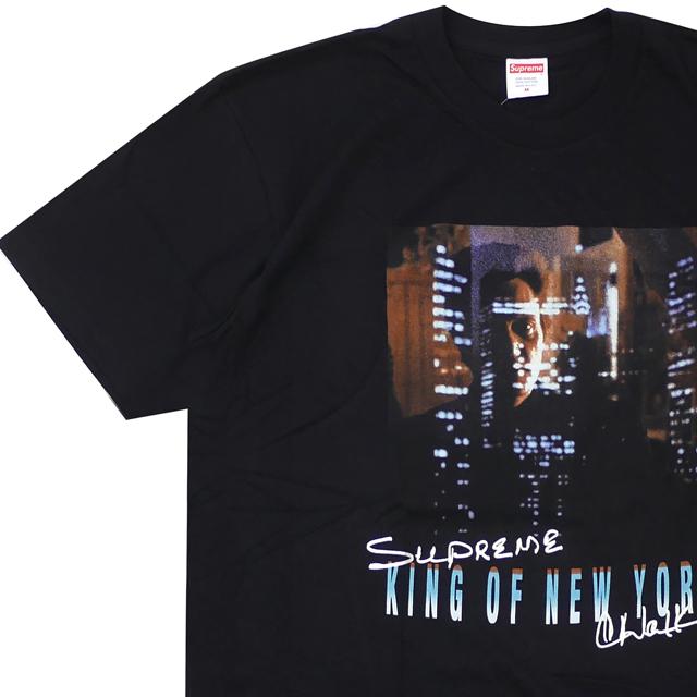 [次回のお買い物で使える500円OFFクーポン配布中!! 4/30(火)まで!!] シュプリーム SUPREME 19SS Christopher Walken King Of New York Tee Tシャツ BLACK ブラック 黒 メンズ 【新品】 2019SS 200008084131
